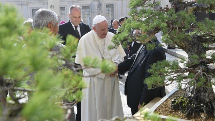 Papa Francisco ao final da Audiência Geral