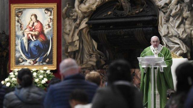 「貧しい人のための世界祈願日」教皇フランシスコ司式のミサ 2020年11月15日 バチカン・聖ペトロ大聖堂