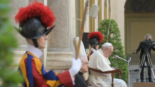 Pope Francis during his weekly General Audience (file photo)