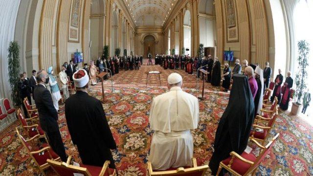 諸宗教指導者の集い「信仰と科学、COP26に向けて」 2021年10月4日 バチカン・祝福の間