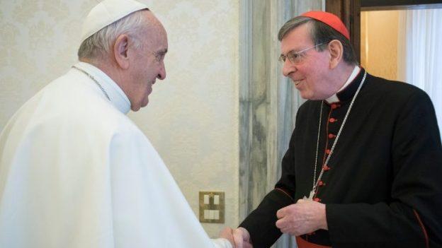 教皇フランシスコとキリスト教一致推進評議会議長クルト・コッホ枢機卿