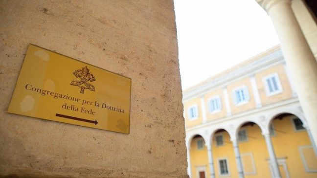 The sign at the entrance to the dicastery
