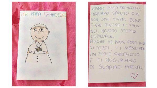 教皇フランシスコと同じジェメッリ病院に入院中の子どもたちのメッセージ