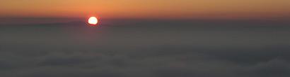 Karsamstag. Sonnenuntergang bei Assisi.