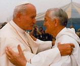 Frere Roger und Johannes Paul II.