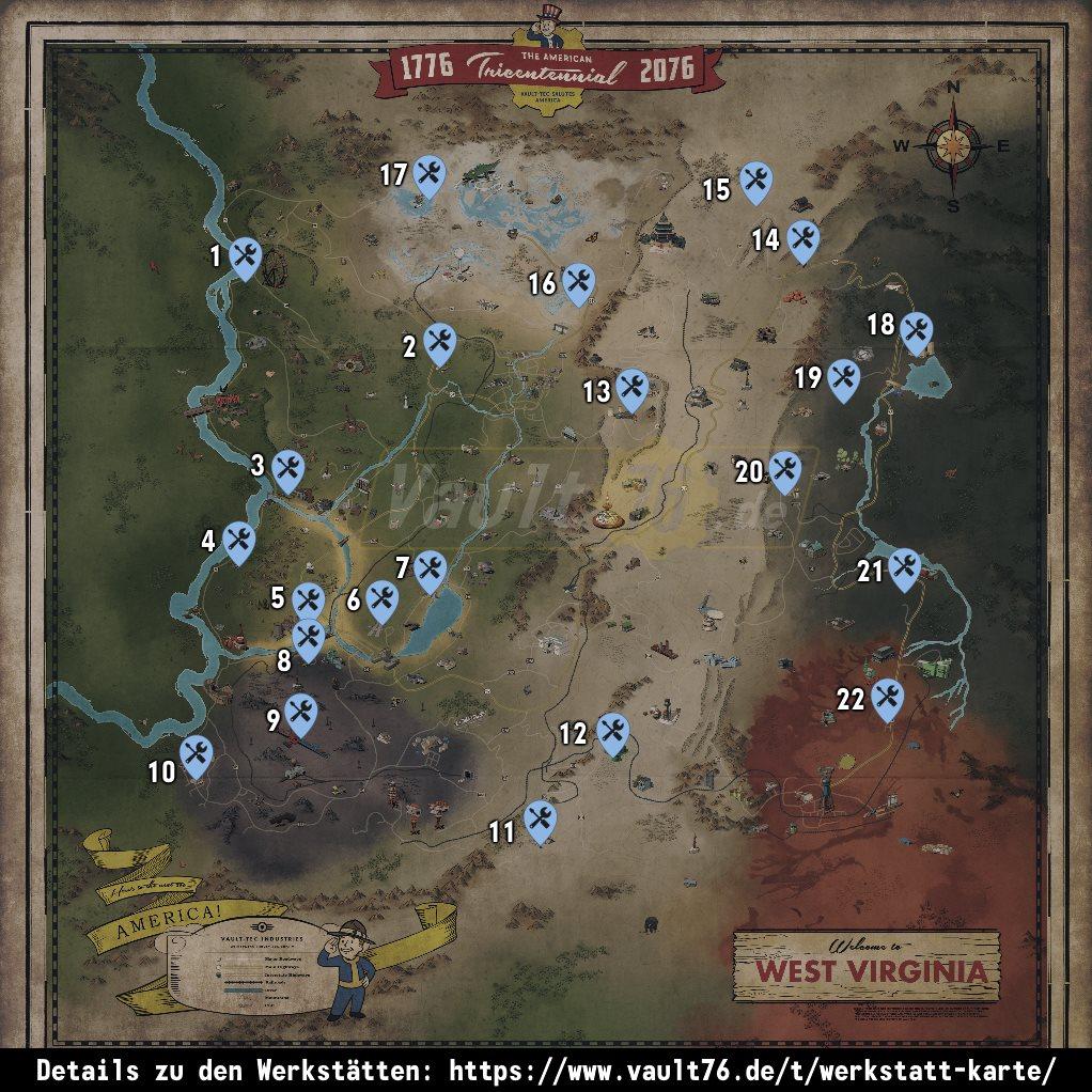 Werkstatt Karte Liste Mit Allen Werksttten Vorkommen
