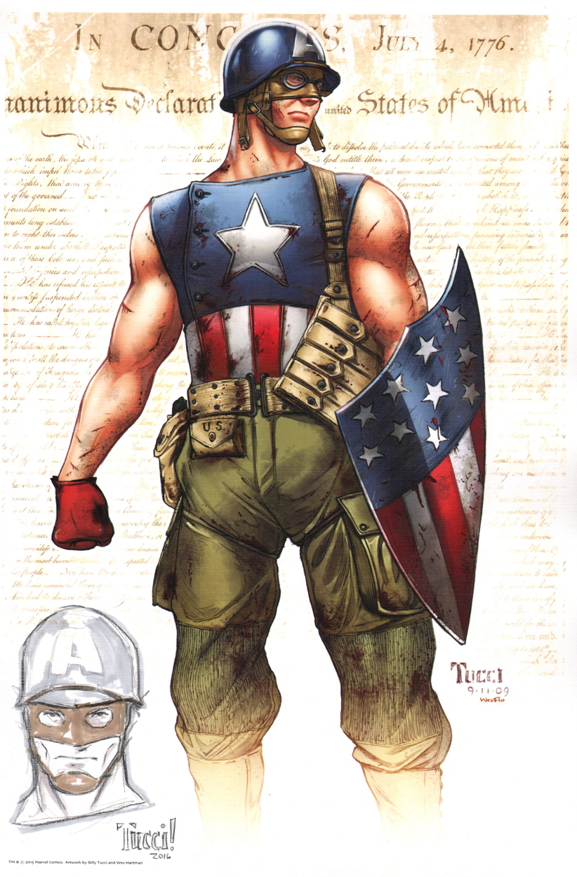 Billy Tucci Remarqued Art Print Captain America