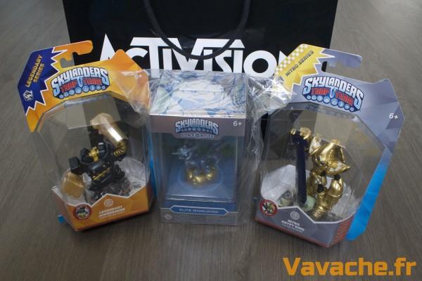 Sac de Goodies Skylanders : figurines Jawbreaker Légendaire, Nitro Krypt King, Eon's Elite Whirlwind