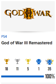 Platine God Of War III Remastered