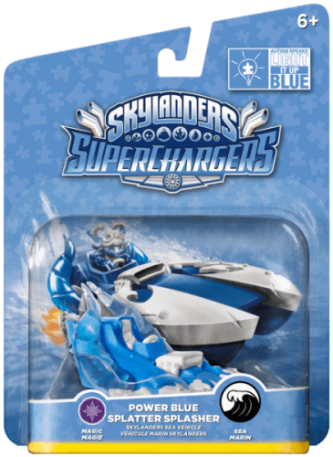 Skylanders SuperChargers Splatter Splasher Power Blue