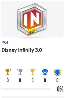 Progessison trophées Disney infinity 3.0