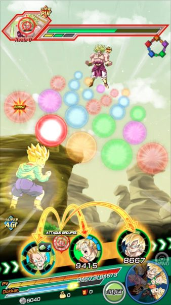Dragon Ball Z Dokkan Battle Attaque Broly