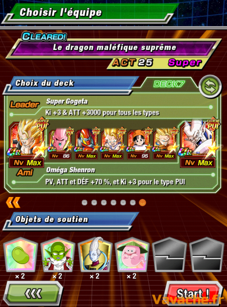 Dokkan Battle suggestion équipe Dokkan Omega Shenron