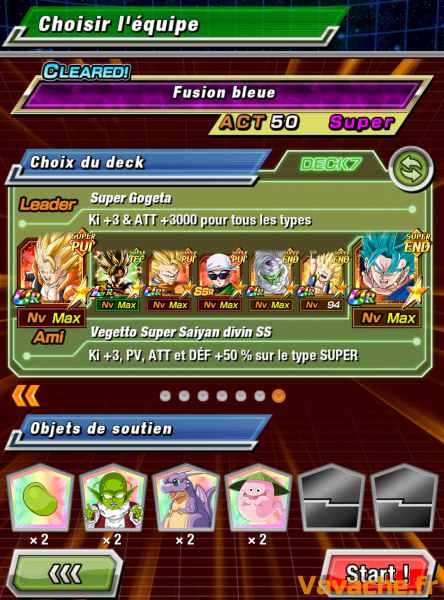 Dokkan Battle suggestion équipe Dokkan Vegetto SSGSS