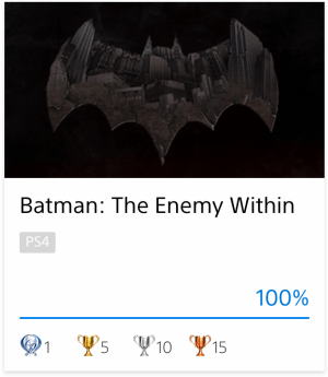 Platine Batman The Enemy Within