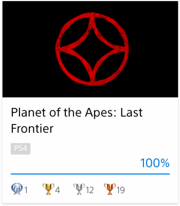 Platine Planet Of The Apes: Last Frontier