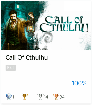 Platine Call Of Cthulhu