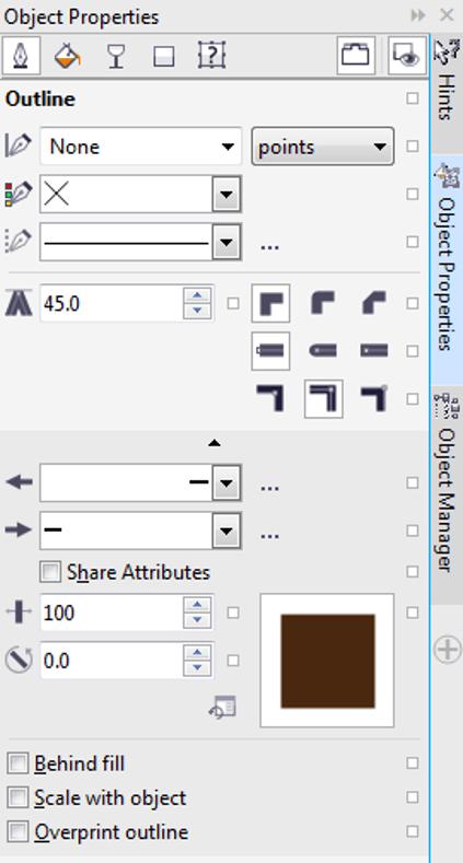 Object Properties in Corel Draw