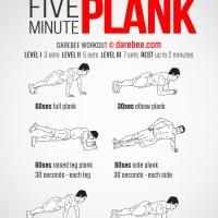 Sei alla ricerca degli addominali? Prova il Five Minute Plank