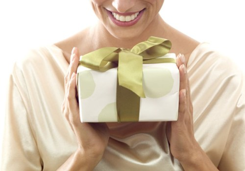 Woman Receiving a Gift