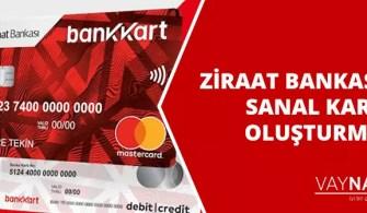 Ziraat Bankası Sanal Kart Oluşturma