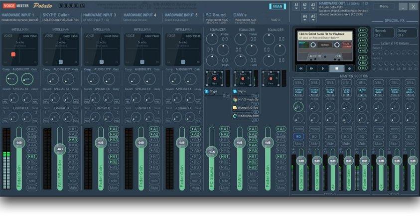 VoiceMeeter Potato Ultimate Virtual Mixing Console