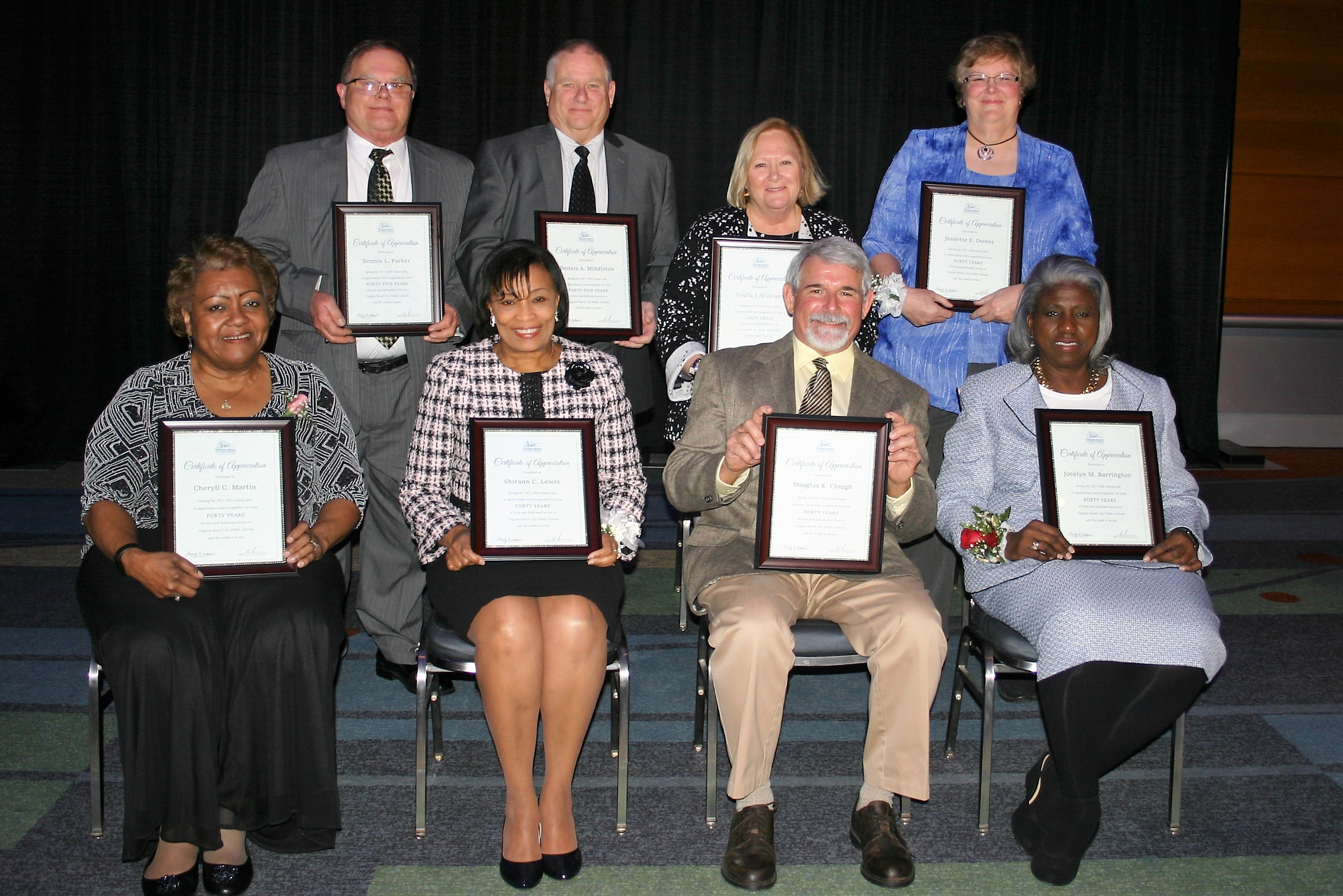 Division Celebrates Employees Decades Of Service To Vbcps