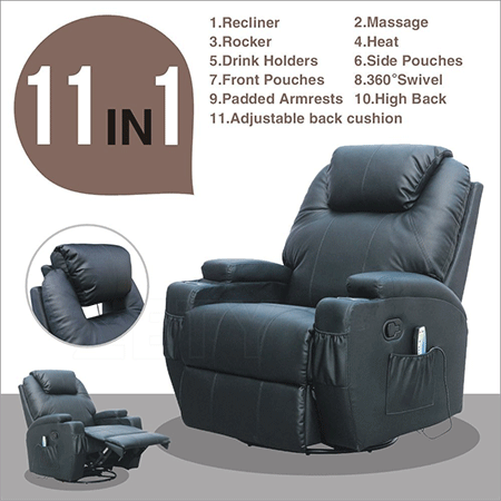 MSG Massage Recliner Leather