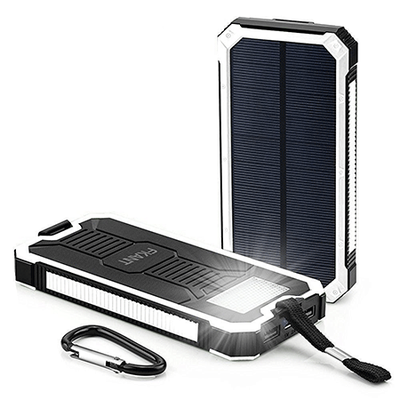 FKANT 15000mAh Portable Dual USB Solar Battery Charger
