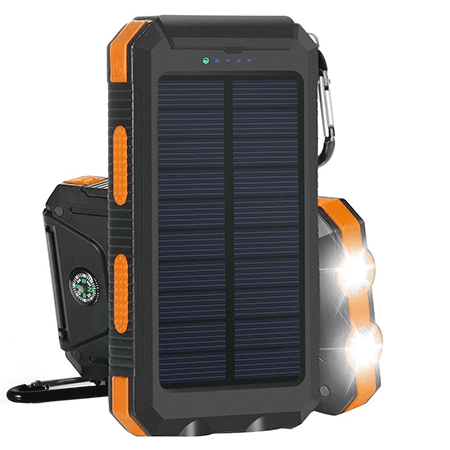 Ayyie Solar Power Bank 10000mAh External Backup Battery