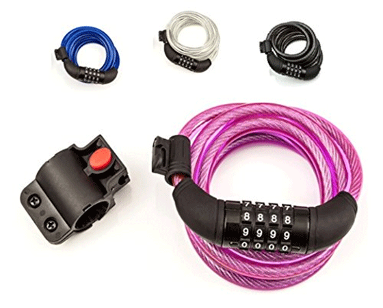 SafeBest Cable Resettable Combination Bicycle Lock