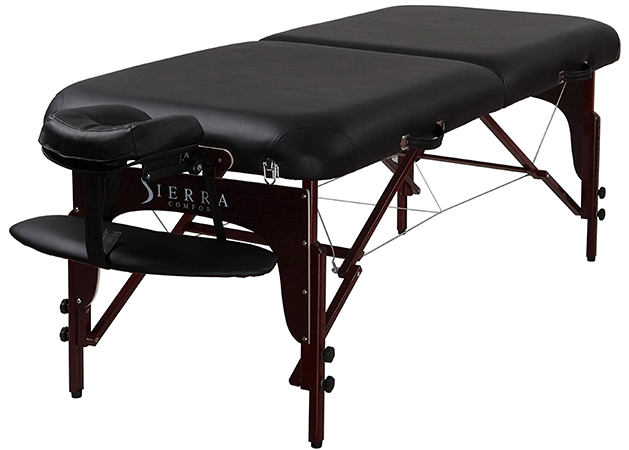 Sierracomfort Massage Table with a Mahogany Finish