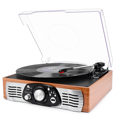 The 3-Speed Stereo Turntable by 1Byone