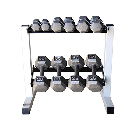 CAP Barbell 150lb Hex Dumbbell Set With Rack