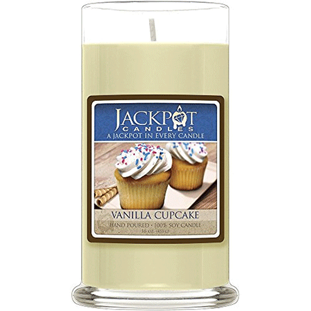 Vanilla Cupcake Candle with a Ring Inside