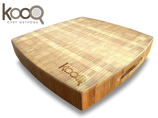 KOOQ Bamboo Chopping Block with Feet