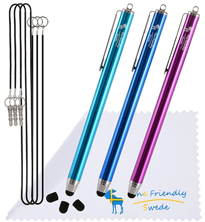 The Friendly Swede 3 Pack Stylus Pens