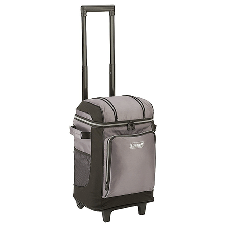 Coleman 42 can wheeled soft cooler with hard liner