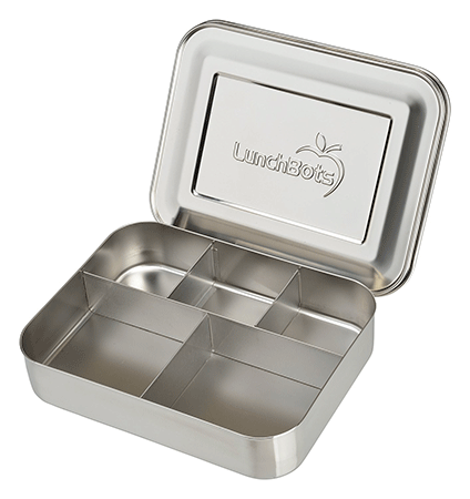 LunchBots Bento Cinco Large Stainless Steel Food Container
