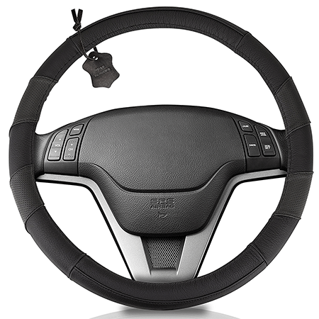 Hydro Gizmos Soft Genuine Leather Steering Wheel Cover