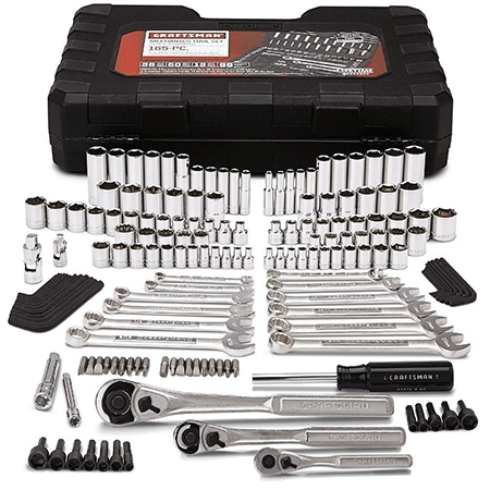 The Craftsman 165 Piece Mechanics Tool Set