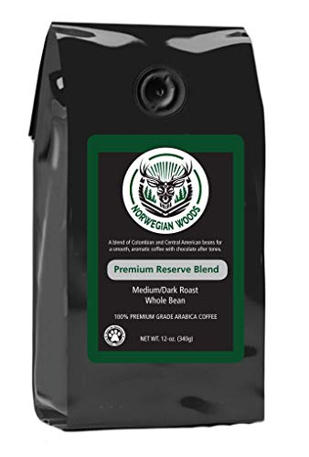 Whole Bean Coffee by Norwegian Woods Coffee, Premium Reserve Blend
