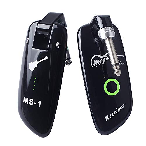 Mefe Rechargeable Mefe Rechargeable Wireless Guitar System Guitar Bass Wireless Digital Transmitter Receiver 100 Channels