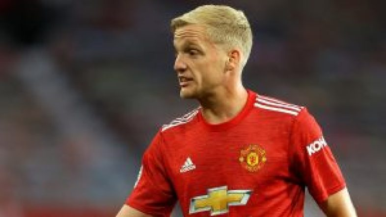 Donny van de Beek in action for Manchester United
