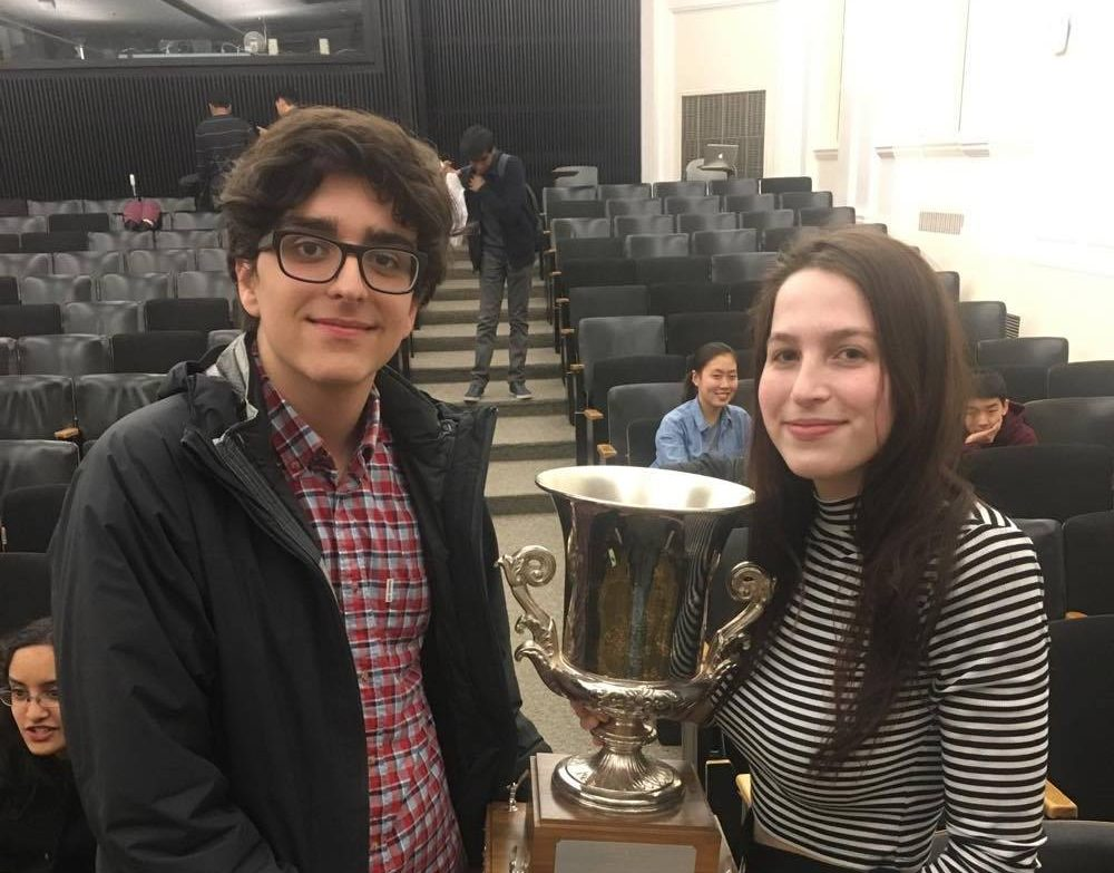 Jack Wareham and Nina Potischman Co-Champion Harvard
