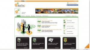 Bizme2 homepage