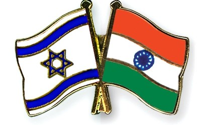 Israel india flags