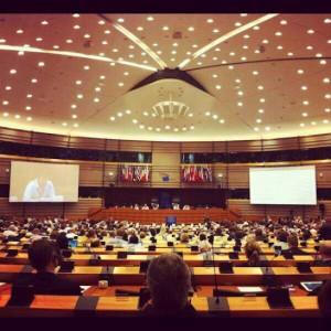 Eze Vidra on stage EU Digital Agenda Assembly 2012