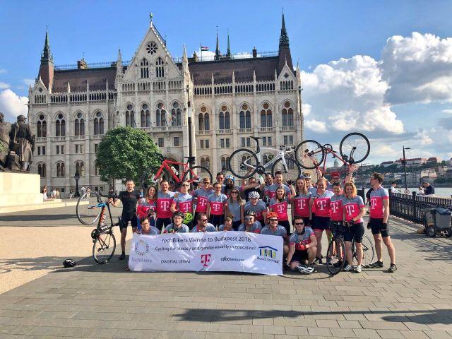 Techbikers Vienna to Budapest 2018