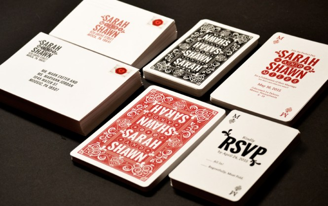Playing Card Wedding Invitations – Playing Card Invitation
